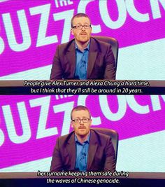 Frankie Boyle as its best - From Never Mind The Buzzcocks