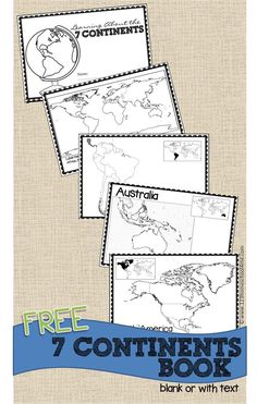 Free Continents Book For Kids Free Printable Continents Book For Kids Perfect For Geography For Homeschool Kindergarten Grade Grade Grade Grade Grade Includes Both Blank Maps And Labeled Maps Continents Activities, Geography Activities, Geography For Kids, Geography Lessons, Social Studies Activities, Teaching Social Studies, 2nd Grade Geography, Maps For Kids, Teaching Geography Elementary