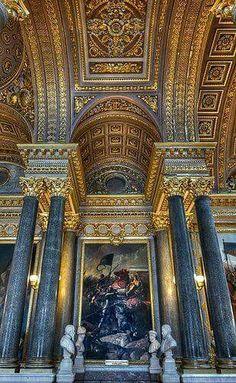 Interior of chateau de Versailles, Paris