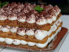 Cake Recipes, Dessert Recipes, Delicious Desserts, Yummy Food, Romanian Food, Aesthetic Food, Cupcake Cakes, Food Photography, Food And Drink