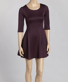 Another great find on #zulily! Purple Fit & Flare Dress by Avital #zulilyfinds