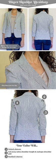 Blazer shoulder alterations