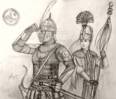 Turkish Women Warriors - Ikhal Effendi Aydin and Ipek of Devleti Orhaniyye by Gambargin on DeviantArt