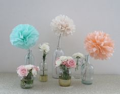 PomPoms  Pom Flower Centerpieces  Your by PrettywithSprinkles, $12.50