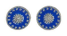 Pilgrim Blue Stud Earrings £9.99    Silver plated stud earrings