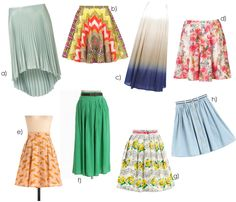 Hot Summer Skirts