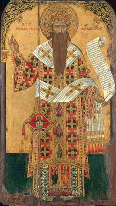 St Cyril of Alexandria. 1654. Emmanuel Tzanes (Buniales). The Antivouniotissa museum, Corfu, Greece. http://www.antivouniotissamuseum.gr/en/tour/west-narthex