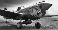 P-40 of 'Aleutian Tigers', pilot Col.John Chennault