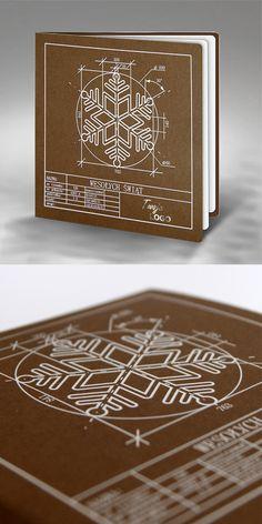 christmas cards, design, technology, snowflake