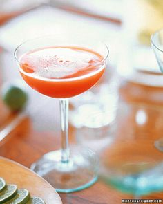 blood orange champagne cocktail (recipe)