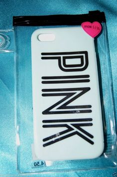 NIP~VICTORIA'S SECRET PINK SOFT IPHONE 5 CASE MINT GREEN & BLACK SILICONE RUBBER #VictoriasSecretPINK