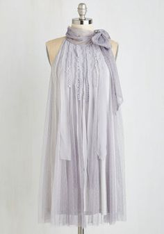 Float to the Coast Dress. Whether youre at a Californian cocktail hour or Bostonian brunch, this soft and elegant shift dress from Ryu has got you covered! #grey #wedding #bridesmaid #prom #modcloth