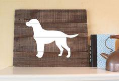 Labrador Retriever Silhouette -  Reclaimed Wood Sign, I love labs, Lab Art, Chocolate Lab, yellow, black, labrador decor, wall art, dog art by elhdesign77 on Etsy https://www.etsy.com/listing/231574115/labrador-retriever-silhouette-reclaimed