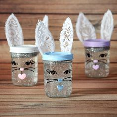 iLovetoCreate Easter Bunny Snow Globes #easter #bunny #craft