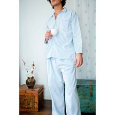 Blue Pyjamas for Men - 100% Cotton, Soft & Breathable | Khasto