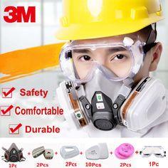 18 em 1 3 M 6200 Meia Face Máscara De Gás Respirador com 3 M 1621 Óculos de  Segurança Na Indústria De Pintura de Pulverização Química Poeira máscara 66dfb5f506