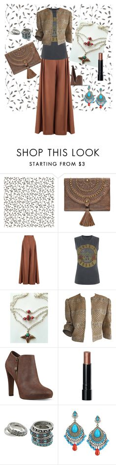 """""""boho funk"""" by misty-revenaugh-chappelle on Polyvore featuring Graham & Brown, Patricia Nash, Zimmermann, Nine West, Bobbi Brown Cosmetics, BohoStyle, turquoisejewelry, bohojewelry and tibetannecklace"""