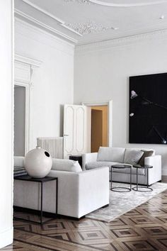 Home Interior 2019 White living room.Home Interior 2019 White living room Classic Interior, Modern Interior Design, Interior Design Inspiration, Room Inspiration, Interior Architecture, Design Ideas, Contemporary Interior, Modern Interiors, Luxury Interior