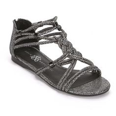 Rock and Republic Gladiator Sandals - Women this is actually black but it kind of looks like a dark charcoal.