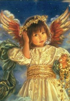 Angel of Gold.   Repinned by An Angel's Touch, LLC, d/b/a WCF Commercial Green Cleaning Co., Denver's Property Cleaning Specialists! http://angelsgreencleaning.net