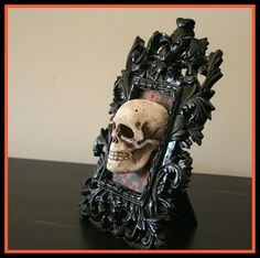 Scull Frame for Halloween dollar store