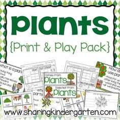 Plants unit: Plants: Plant printables: Plant Charts: Plant Sorts: Plant Centers: Plant Activities: Plant GamesThis plant unit perfect for Kinders and more!This pack contains printables and playable activities to cover the topic of plants. This pack covers the following topics and includes:What is a Plant?