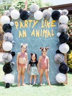 67 Trendy animal birthday party games for kids Animal Themed Birthday Party, Birthday Party Games For Kids, Zoo Birthday, Birthday Gifts For Teens, First Birthday Parties, Birthday Party Decorations, First Birthdays, Birthday Photos, Party Animal Theme