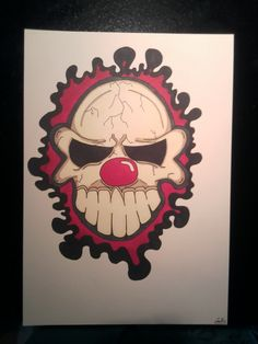ClownSkull Female, Design, Art, Kunst, Design Comics, Art Education, Artworks