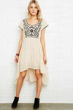 Free People India Gauze Embroidered Dress // from Urban Outfitters //