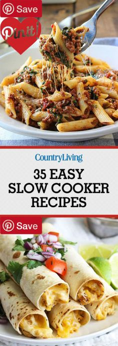 NEW 40 Easy Slow Cooker Recipes for Busy Fall Nights - DIY
