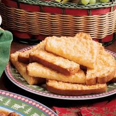 """Coconut Toast Recipe -This toasty bread has a wonderfully sweet and buttery coconut topping that's simply scrumptious. """"It's easy to make and so yummy,"""" says Betty Checkett of St. Louis, Missouri. """"Enjoy it with a cup of coffee at breakfast or for a snack anytime of day."""""""