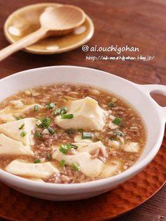 Cheeseburger Chowder, Tofu, Dinner Recipes, Cooking, Ethnic Recipes, Japan, Cucina, Okinawa Japan, Kochen
