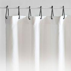 Like the Shower Rings...Good DIY idea
