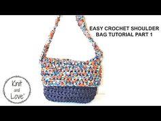 EASY CROCHET SHOULDER BAG TUTORIAL PART 1 - YouTube