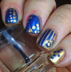Nail Art for Nubs I used #lilypadlacquer and #maybelline for this awesome design!!