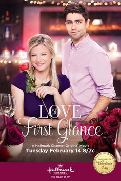 "Its a Wonderful Movie - Your Guide to Family and Christmas Movies on TV: Fall in... ""Love at First Glance"" with Hallmark Channel's Original Valentine's Day Movie starring Amy Smart and Adrian Grenier!"