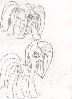 Pinkamena Diane Pie- Side 2--- Again, sorry for the bleed through! Maybe I'll color these later......