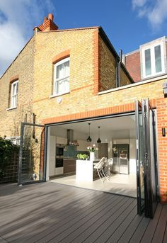 for more visit our website :: www. House Extension Plans, House Extension Design, House Design, Extension Ideas, Style At Home, Not Going Home, Kitchen Diner Extension, Back Garden Design, Moderne Pools