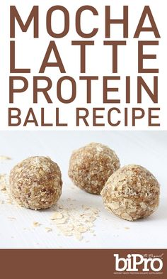 Mocha Latte Protein Ball Recipe - These mocha latte protein balls are perfect for the morning person – or the not-so-morning person looking to kick things into high gear. Made with BiPro Whey Protein