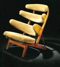 "1958 Rare ""Pyramid"" Chair 
