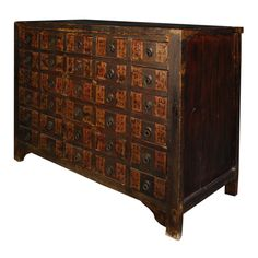 19th Century Chinese Apothecary Chest image 3-This could look great to left of fireplace.(With Lamp/s on top)