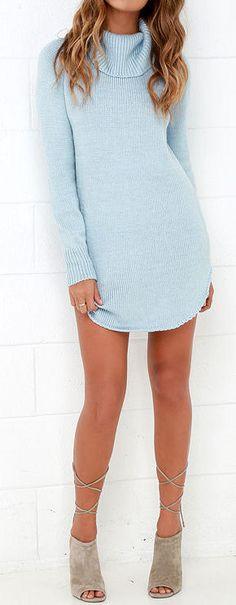 Light Blue Sweater Dress ❤︎