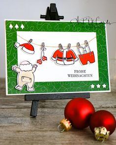 Weihnachtskarte mit Santa's Suit aus dem Stampin Up Herbst-/Winterkatalog 2017 #artofcards #stampinup #stampinupdemonstrator #weihnachten #christmas #santassuit #selbstgemacht
