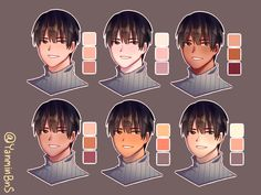 Skin tutorial series : skin color palette Disclaimer : I do not own this art. - Skin tutorial series : skin color palette Disclaimer : I do not own this art. This account is gall - Digital Painting Tutorials, Digital Art Tutorial, Art Tutorials, Drawing Tutorials, Drawing Ideas, Skin Color Palette, Palette Art, Drawing Base, Manga Drawing