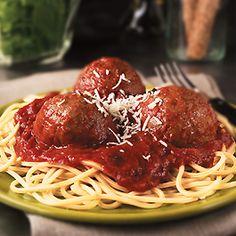 Delicious Spaghetti & Meatballs