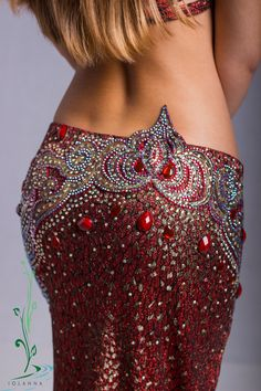 Belly dance costume Red elegance