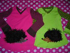 Two hedgehog shirts (128 & 134)
