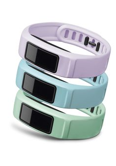 Garmin vívofit 2 is an activity tracker that features 1+ year battery life and comes in many colors including lilac, cloud and mint.