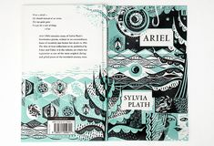 """Ariel"" by Sylvia Plath. Book Cover Design, Book Design, Book Sleeve, Beautiful Book Covers, Sylvia Plath, Zine, Ariel, Cover Art, Book Art"