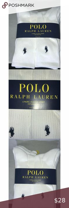 Ralph Lauren Polo Socks Classic NWT You are viewing a brand new set of Ralph Lauren Polo Socks classic fit Men's Sz Us 6-12 ; six pairs in this set of socks; There are three kits available but each is sold separately; Please view all pics and ask any questions you may have prior to making a bid, offer, or purchase. The item in the pictures is the EXACT item you will receive if placing an order. Please do not hesitate to ask any questions or make offers !! I will accept almost all REASONABLE… Fit Men, New Set, Mens Fitness, Polo Ralph Lauren, Socks, Pairs, Man Shop, Classic, Pictures